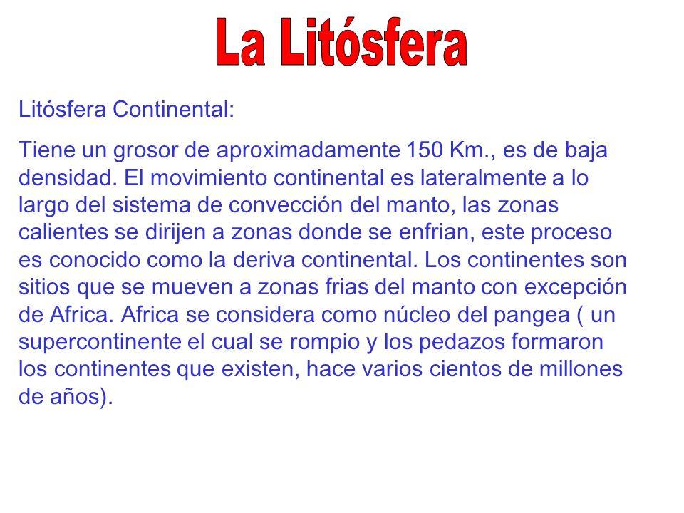 La Litósfera Litósfera Continental: