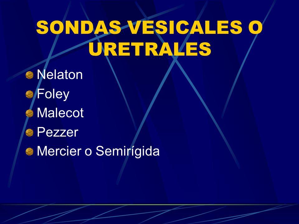 SONDAS VESICALES O URETRALES