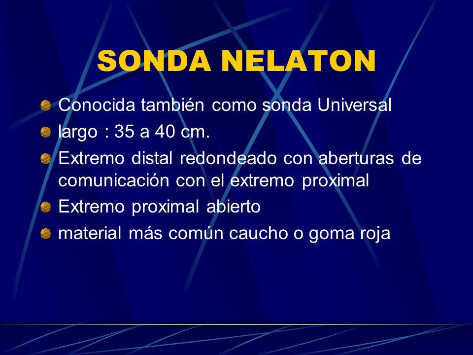 SONDA NELATON Conocida también como sonda Universal