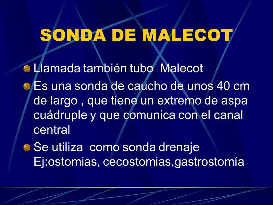 SONDA DE MALECOT Llamada también tubo Malecot