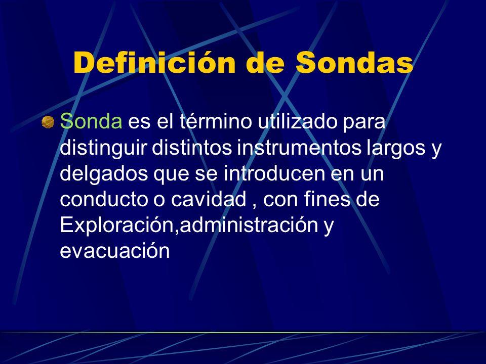 Definición de Sondas