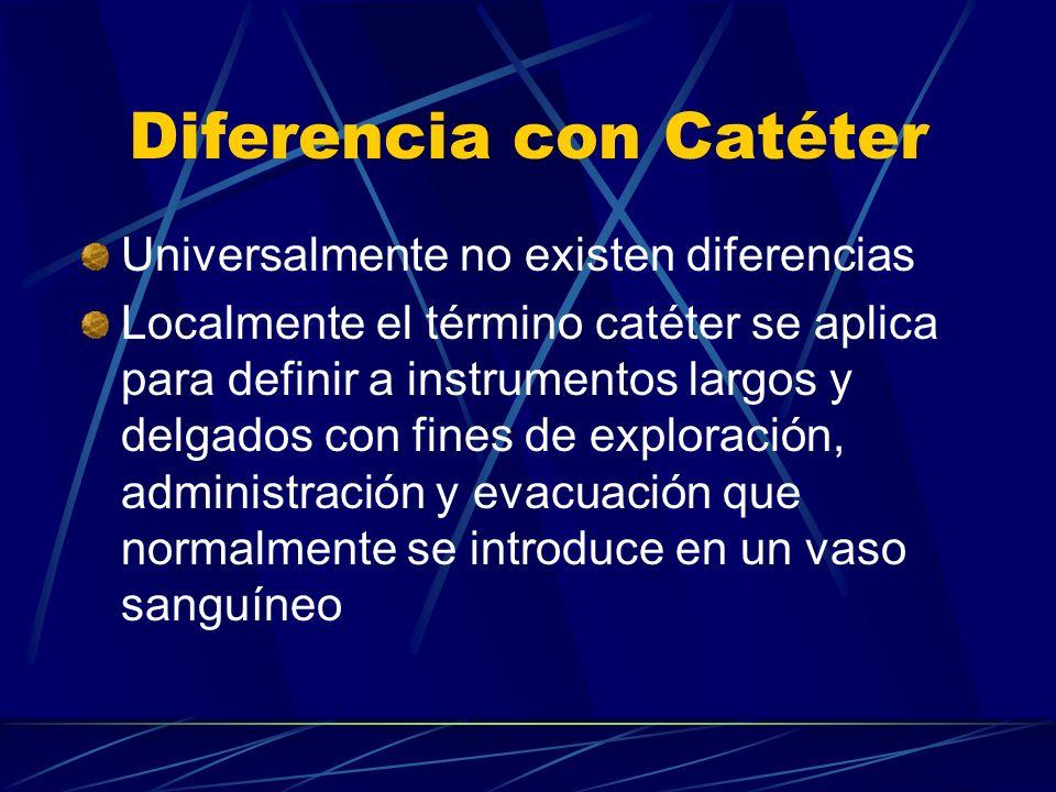Diferencia con Catéter