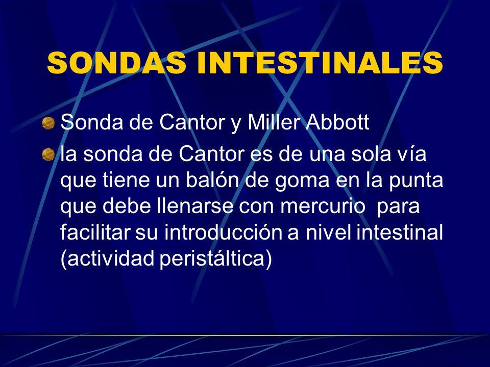 SONDAS INTESTINALES Sonda de Cantor y Miller Abbott