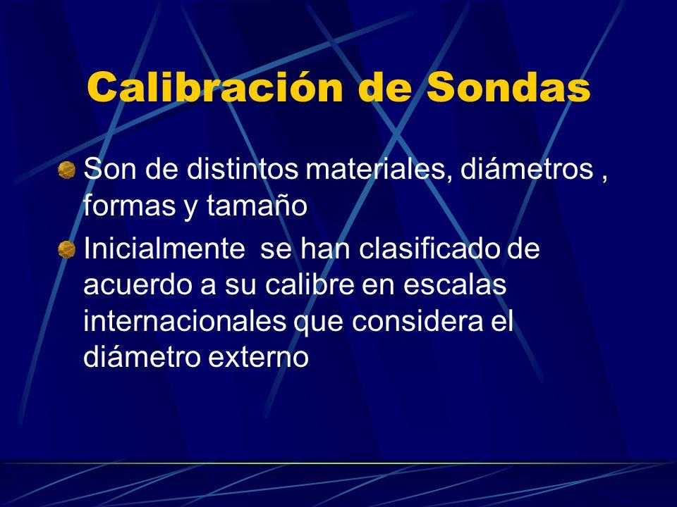 Calibración de Sondas Son de distintos materiales, diámetros , formas y tamaño.