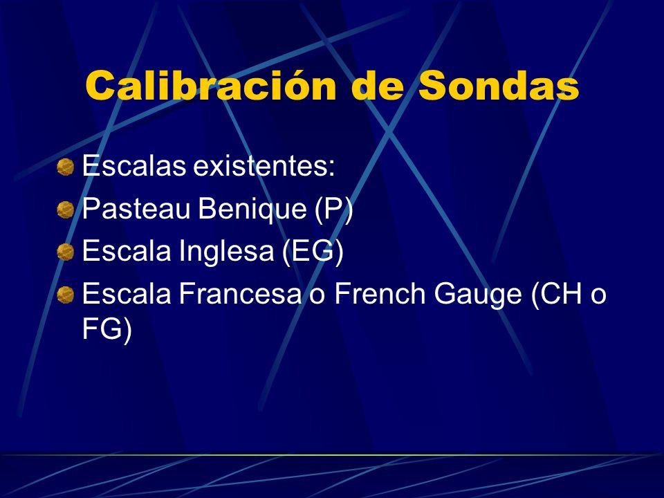 Calibración de Sondas Escalas existentes: Pasteau Benique (P)