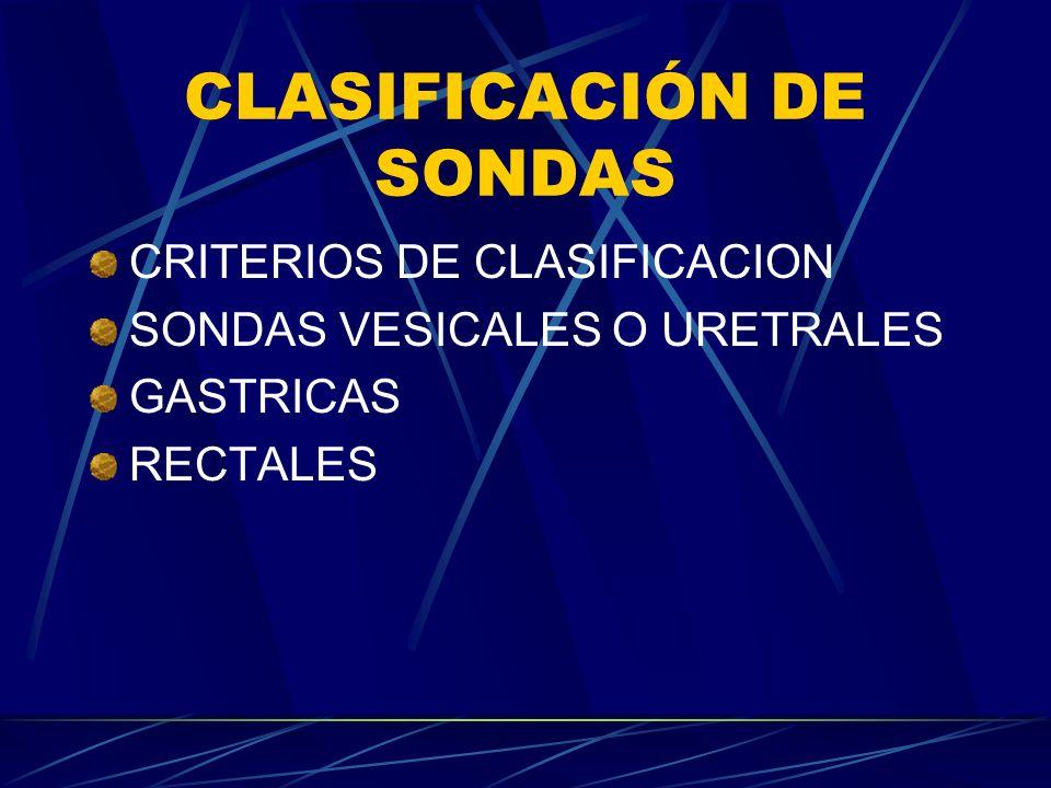 CLASIFICACIÓN DE SONDAS