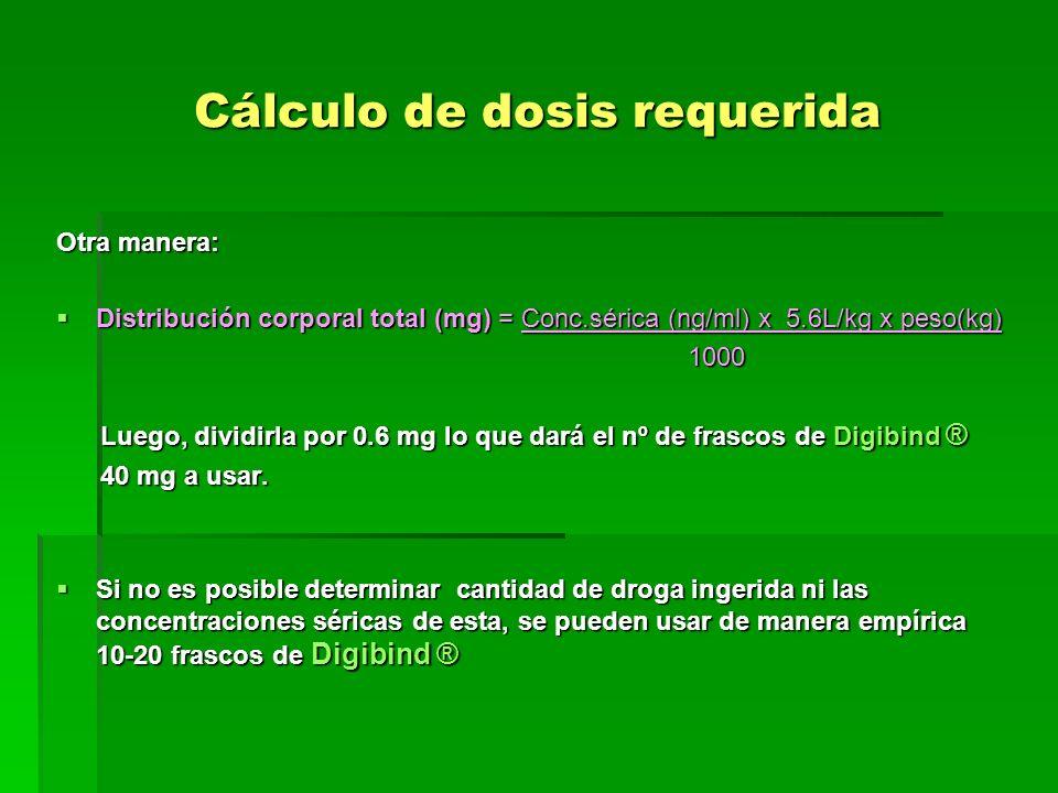 Cálculo de dosis requerida