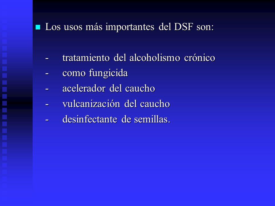 Los usos más importantes del DSF son:
