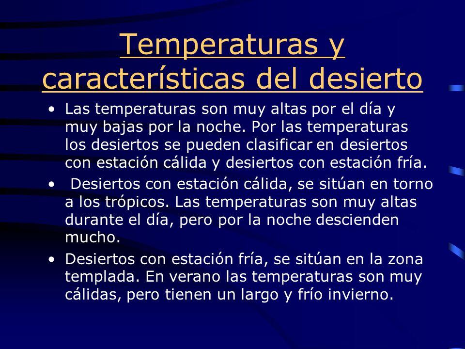 Temperaturas y características del desierto