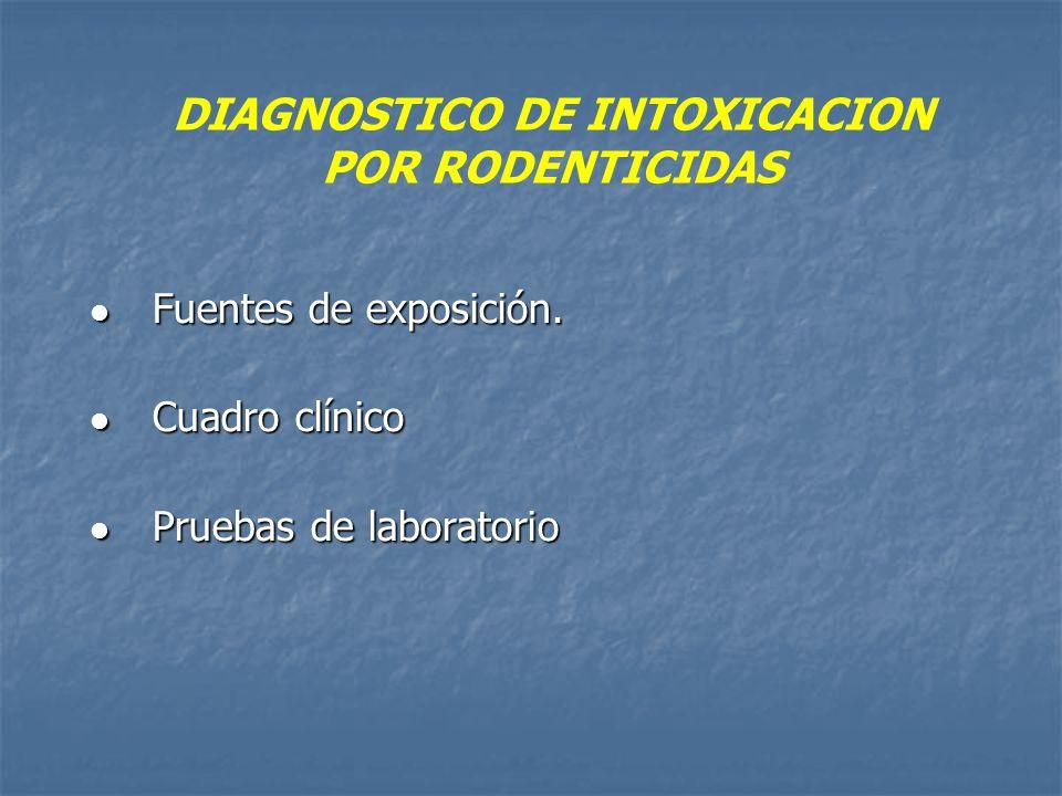 DIAGNOSTICO DE INTOXICACION POR RODENTICIDAS