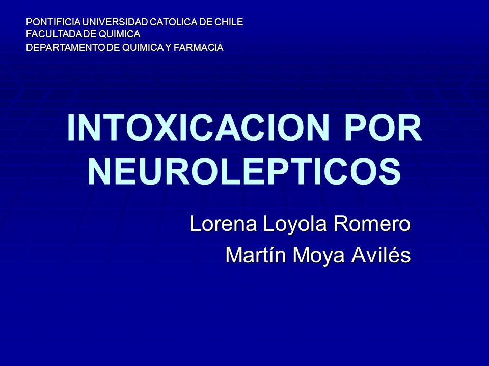 INTOXICACION POR NEUROLEPTICOS
