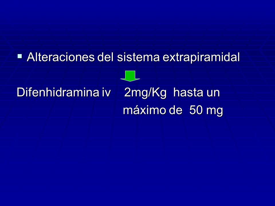 Alteraciones del sistema extrapiramidal