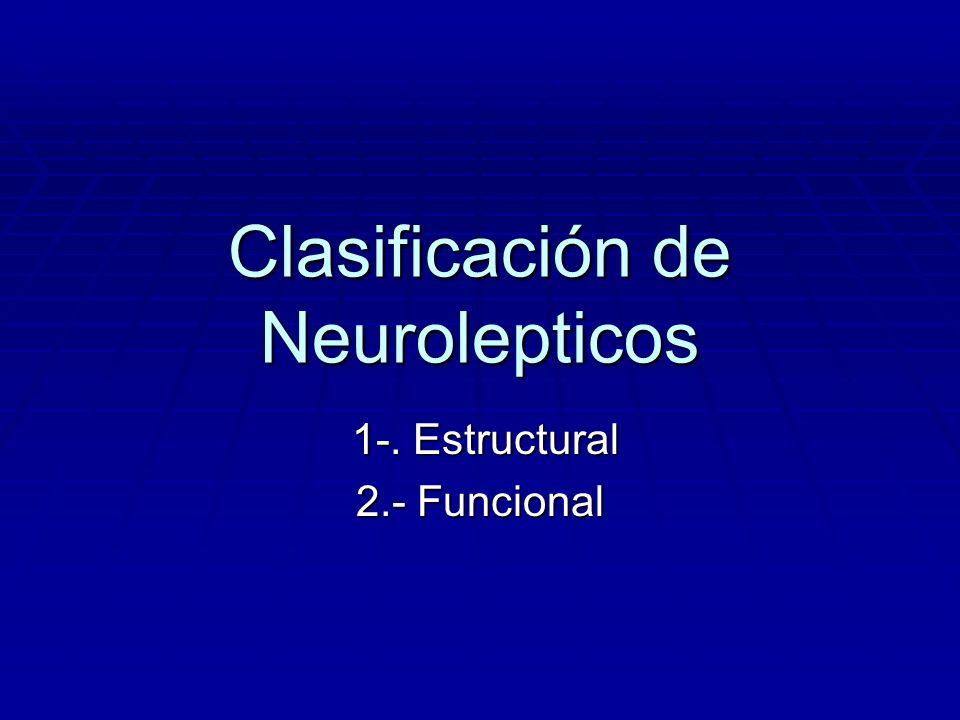 Clasificación de Neurolepticos