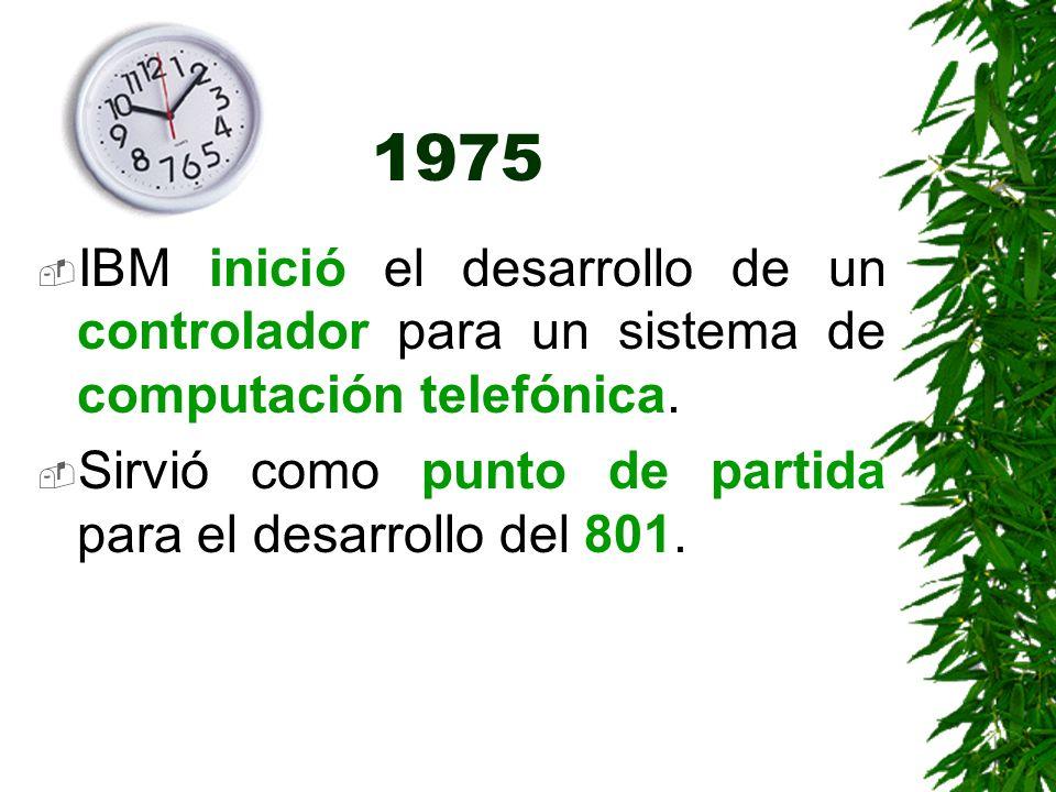 1975 IBM inició el desarrollo de un controlador para un sistema de computación telefónica.
