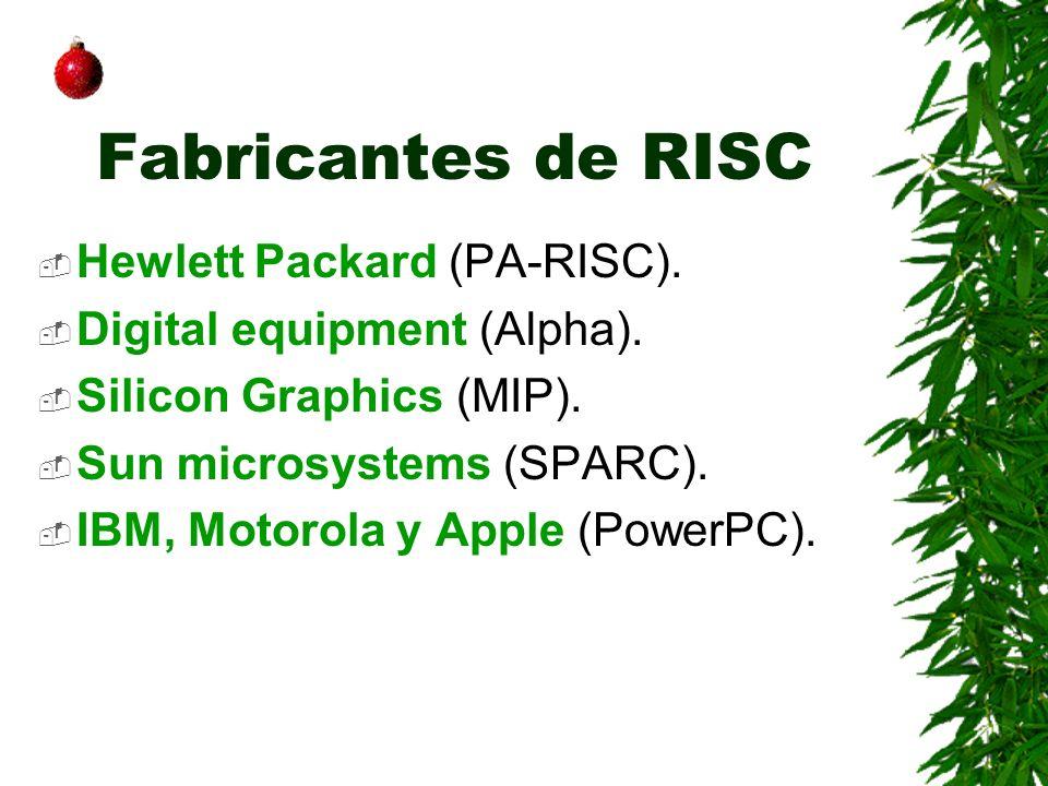 Fabricantes de RISC Hewlett Packard (PA-RISC).