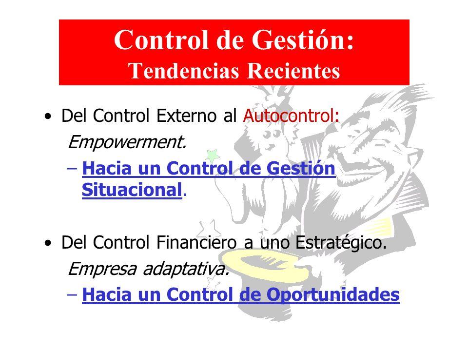 Control de Gestión: Tendencias Recientes