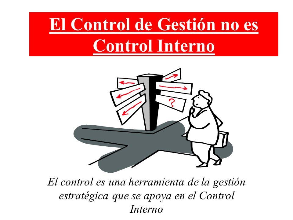El Control de Gestión no es Control Interno