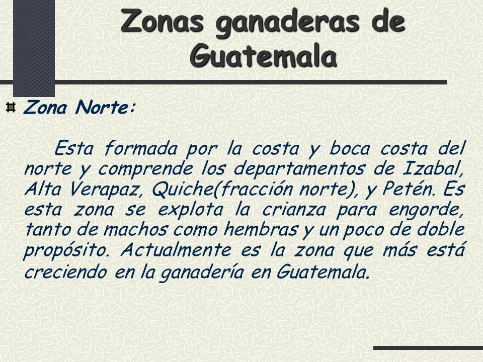 Zonas ganaderas de Guatemala