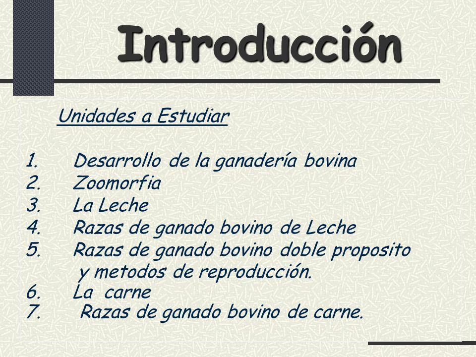Introducción Unidades a Estudiar 1. Desarrollo de la ganadería bovina