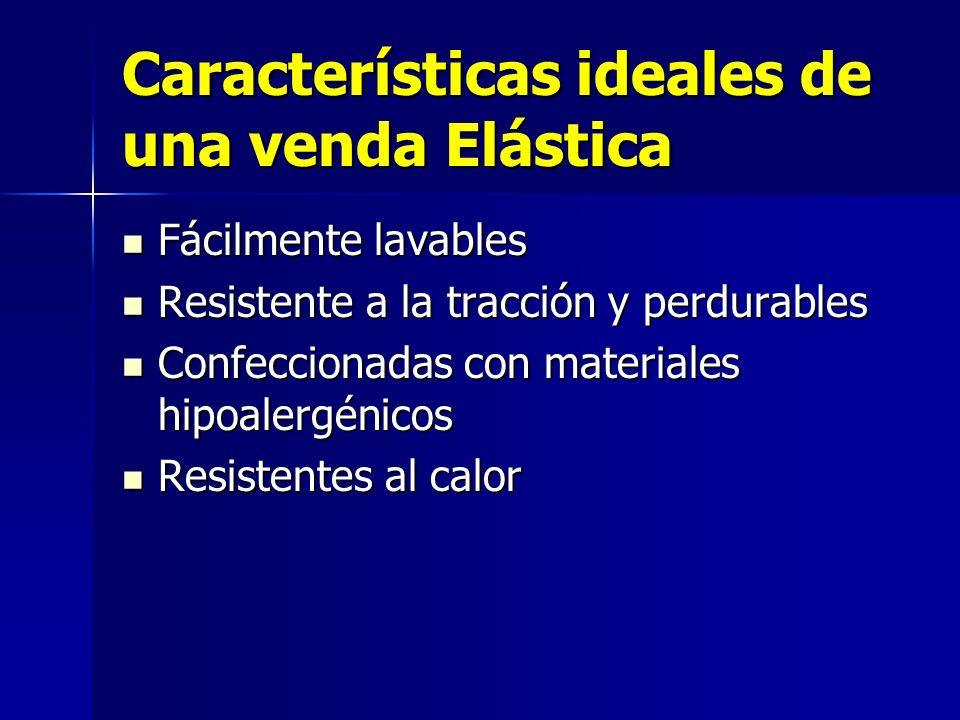 Características ideales de una venda Elástica