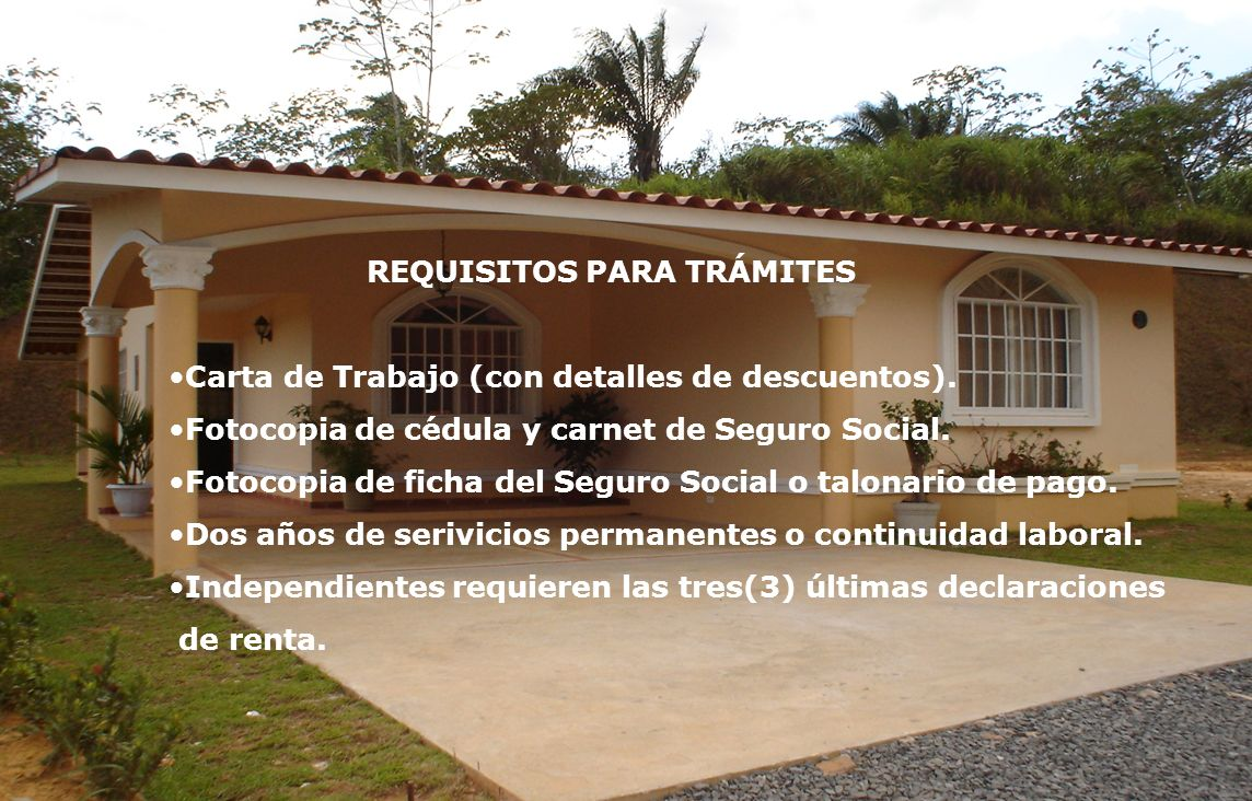 REQUISITOS PARA TRÁMITES
