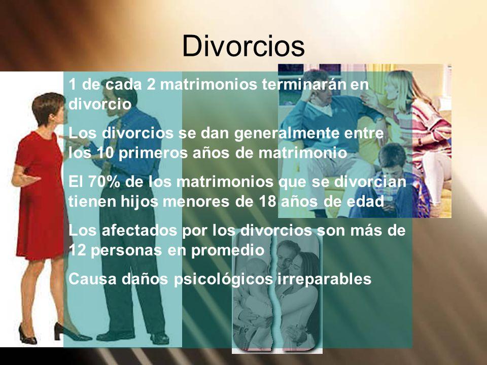 Divorcios 1 de cada 2 matrimonios terminarán en divorcio