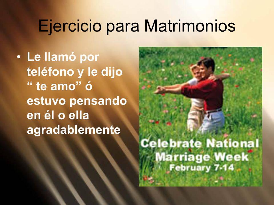 Ejercicio para Matrimonios
