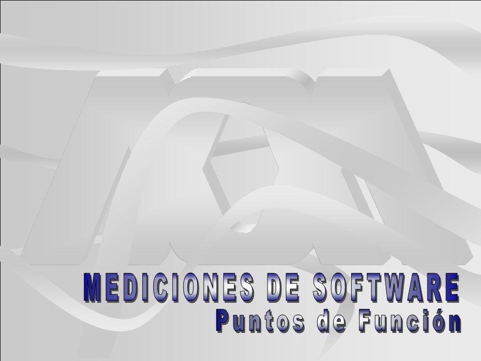 MEDICIONES DE SOFTWARE