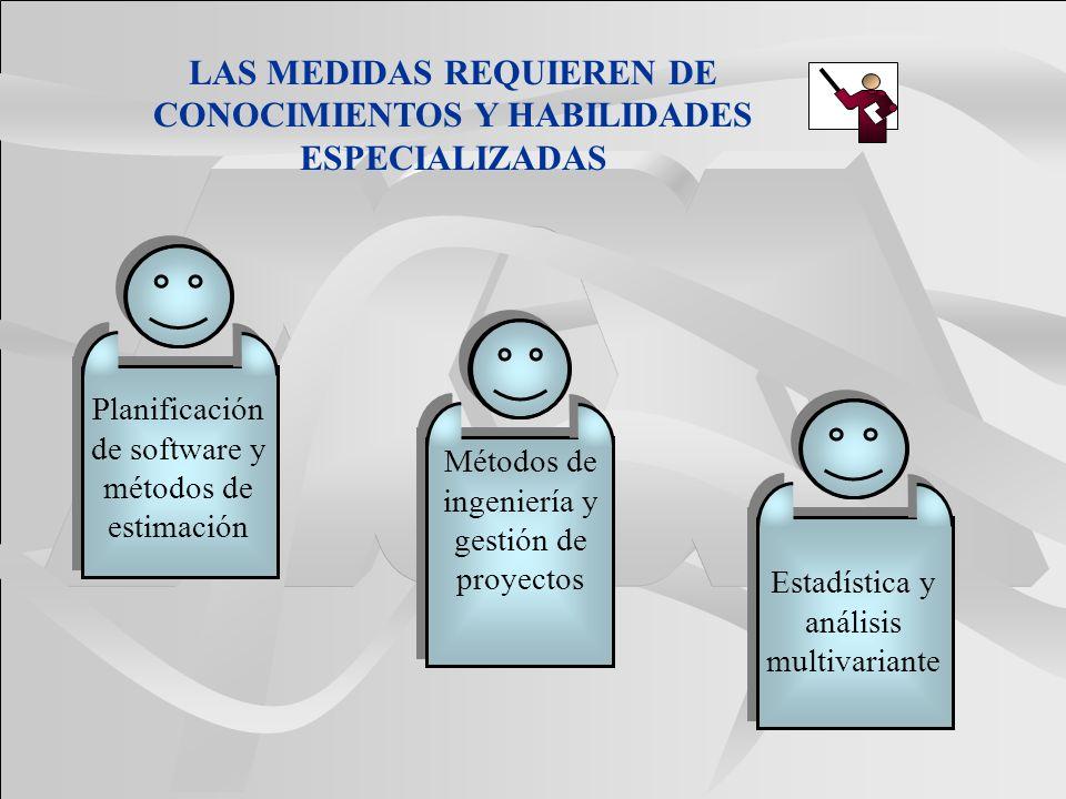 LAS MEDIDAS REQUIEREN DE CONOCIMIENTOS Y HABILIDADES ESPECIALIZADAS