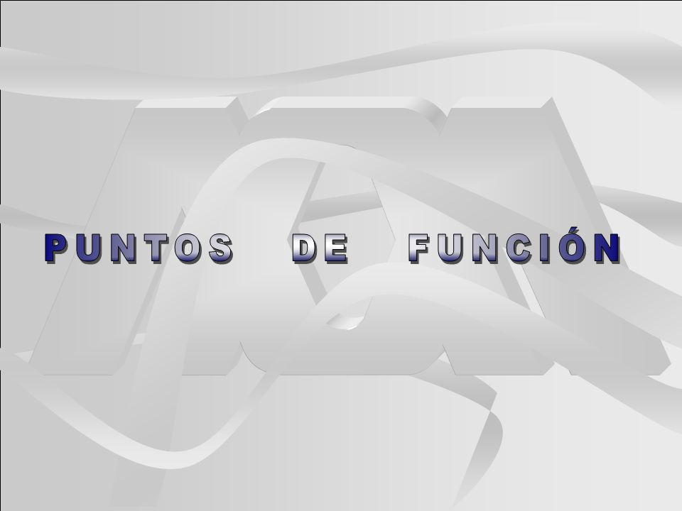 PUNTOS DE FUNCIÓN