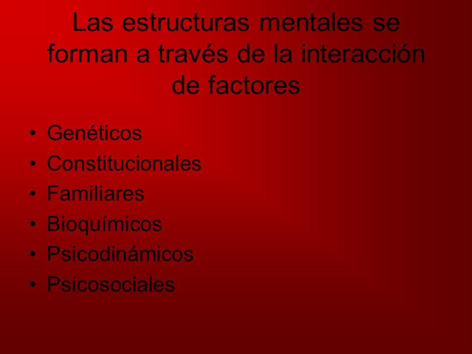 Las estructuras mentales se forman a través de la interacción de factores