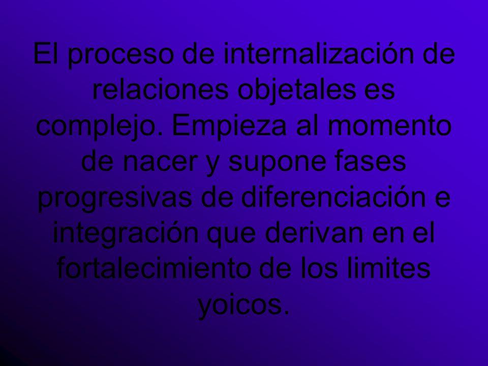 El proceso de internalización de relaciones objetales es complejo