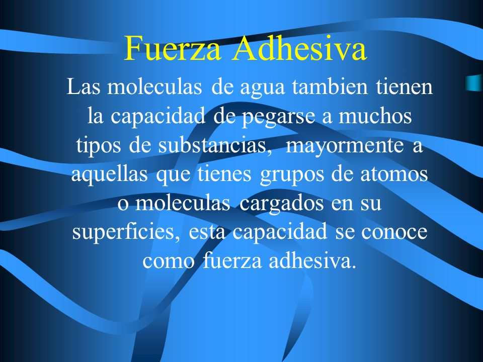 Fuerza Adhesiva