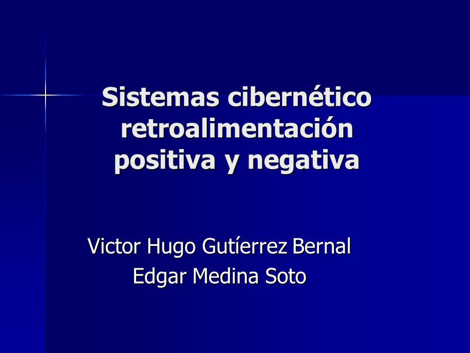 Sistemas cibernético retroalimentación positiva y negativa
