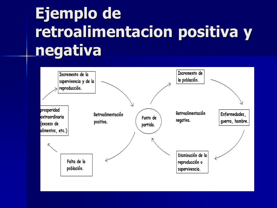Ejemplo de retroalimentacion positiva y negativa