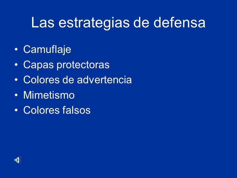 Las estrategias de defensa