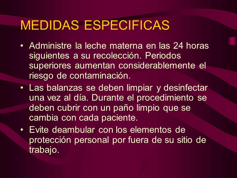 MEDIDAS ESPECIFICAS