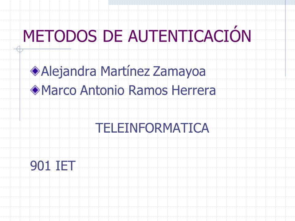METODOS DE AUTENTICACIÓN