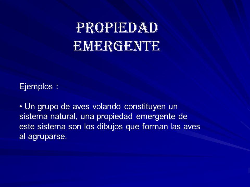 PROPIEDAD EMERGENTE Ejemplos :