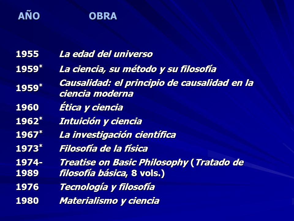 AÑO OBRA 1955 La edad del universo 1959*