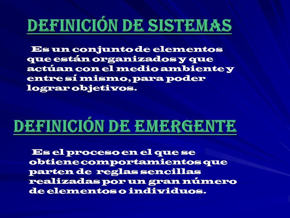 DEFINICIÓN DE SISTEMAS