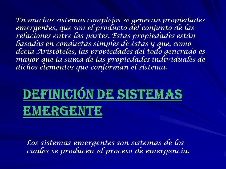 DEFINICIÓN DE SISTEMAS EMERGENTE