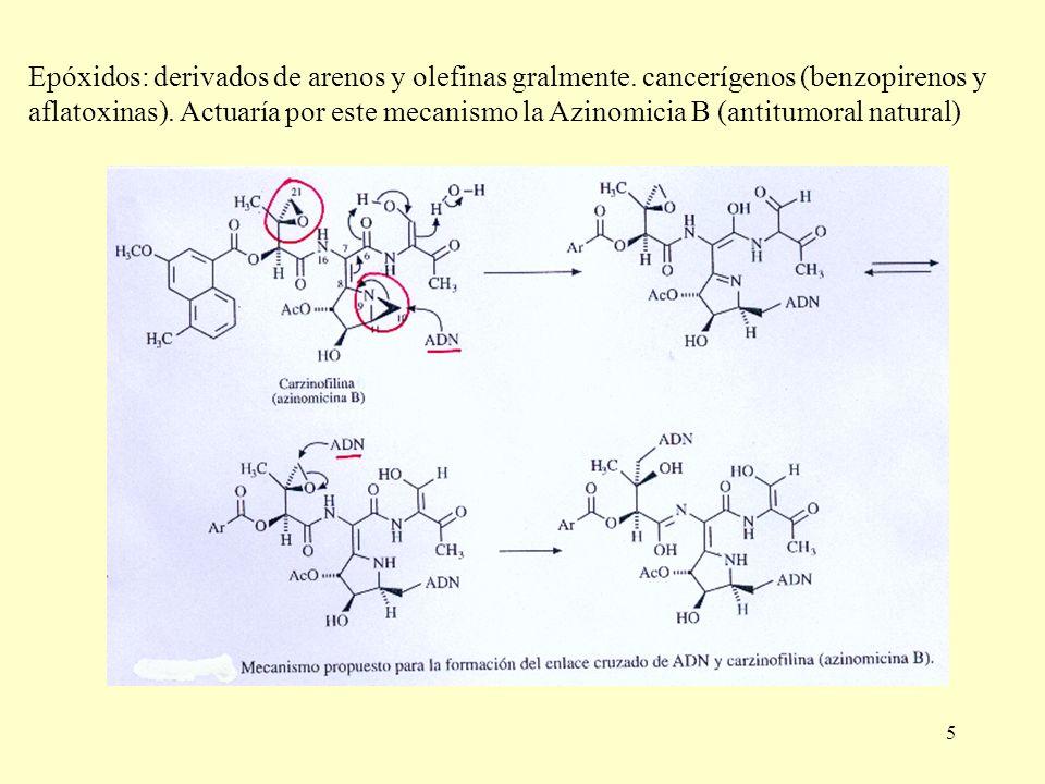 Epóxidos: derivados de arenos y olefinas gralmente