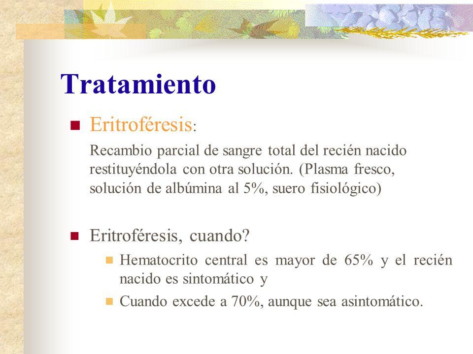 Tratamiento Eritroféresis: Eritroféresis, cuando