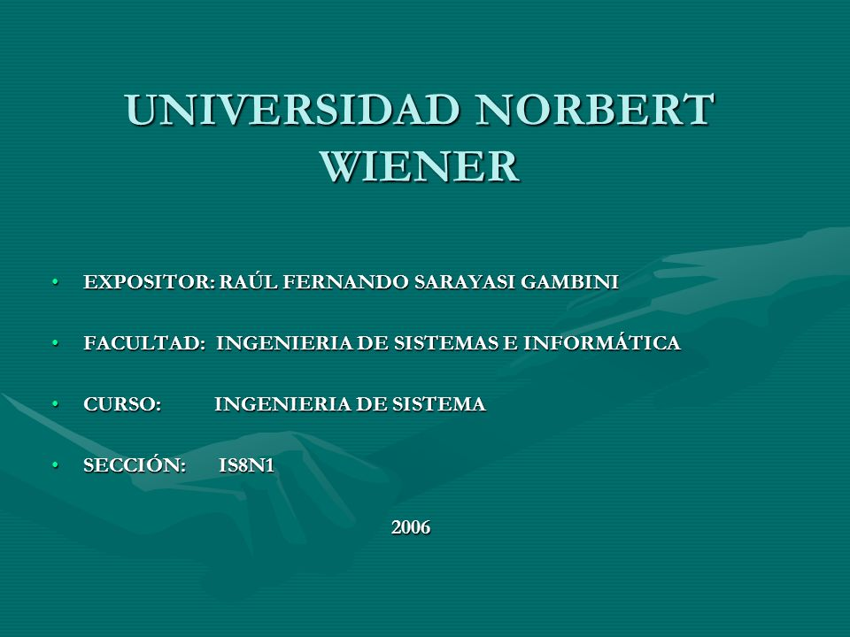 UNIVERSIDAD NORBERT WIENER