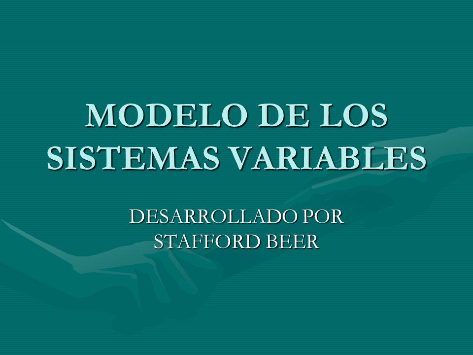 MODELO DE LOS SISTEMAS VARIABLES
