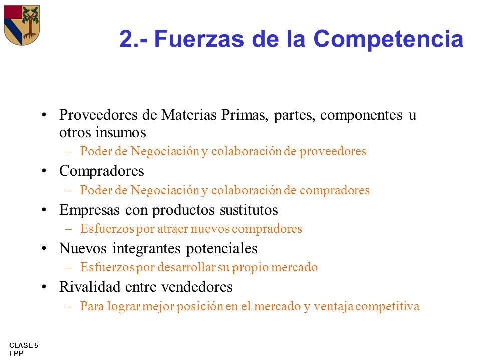 2.- Fuerzas de la Competencia