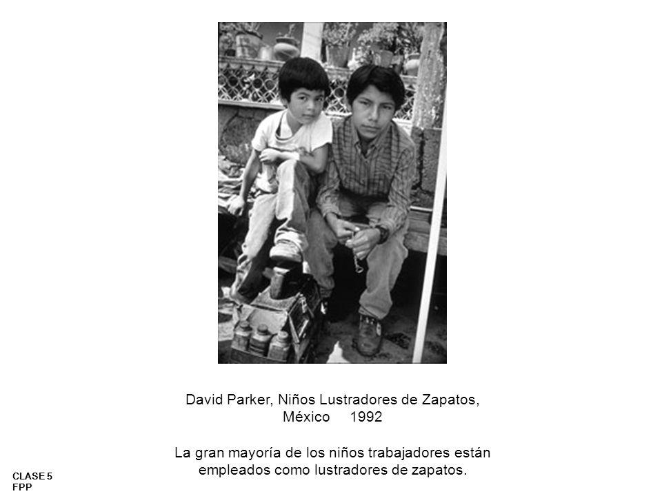 David Parker, Niños Lustradores de Zapatos, México 1992