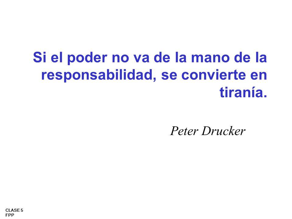 Si el poder no va de la mano de la responsabilidad, se convierte en tiranía.
