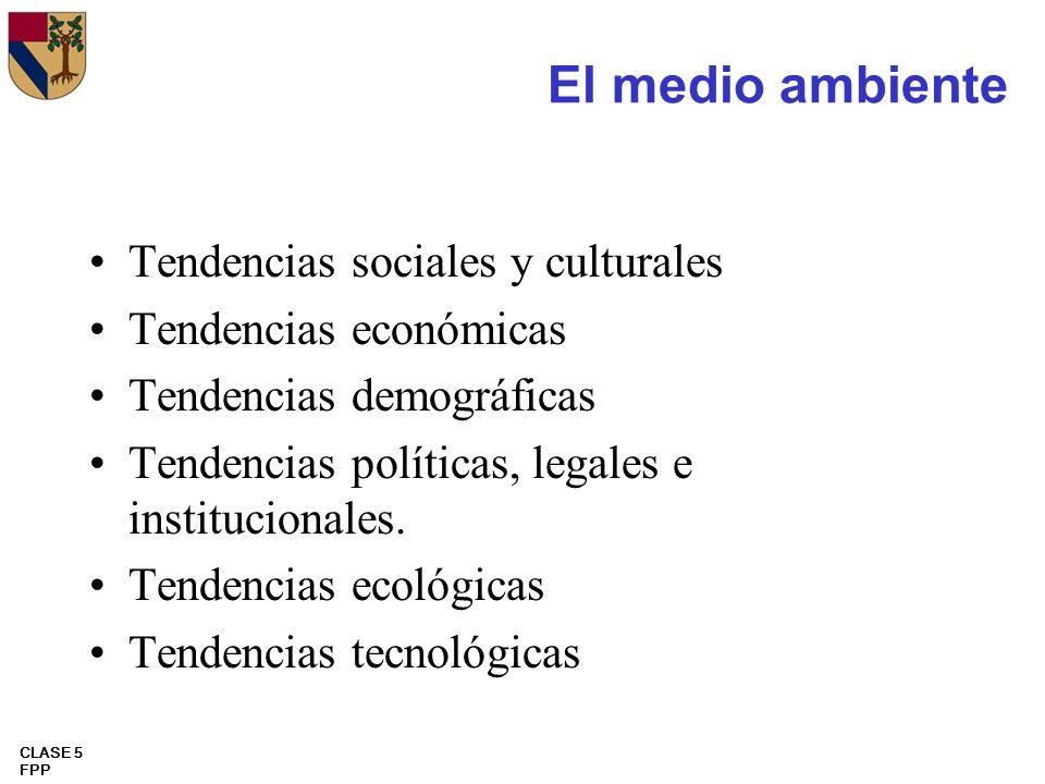 El medio ambiente Tendencias sociales y culturales